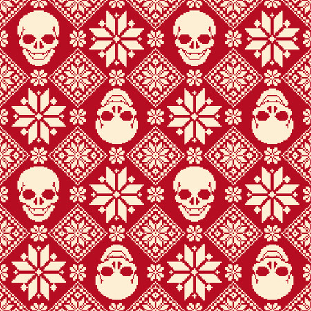 Nordic and skull pattern