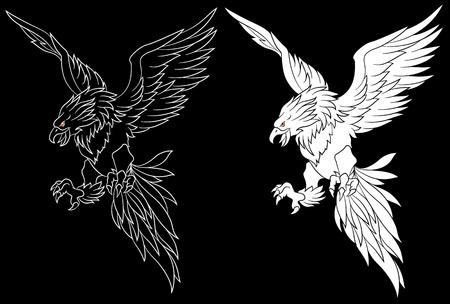 immortal: bird illustration