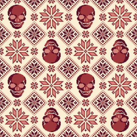 nordic: Nordic and skull pattern