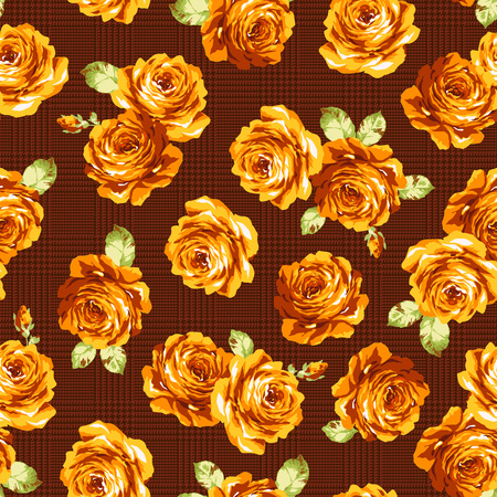 impressive: Rose flower pattern, Illustration