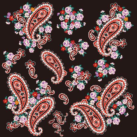 Paisley material illustration