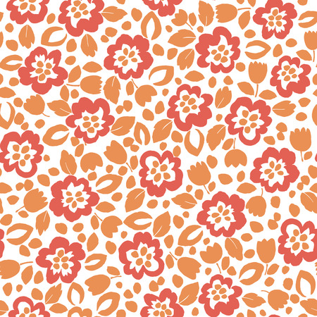 Flower illustration pattern