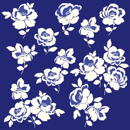 petal: Flower illustration material Illustration