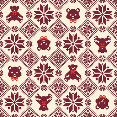 Nordic pattern illustration Фото со стока