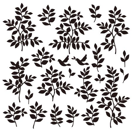 simplification: Leaf illustration object