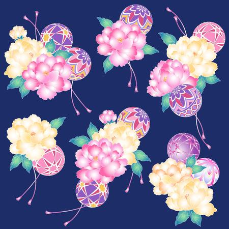 japanese style: Japanese style peony,