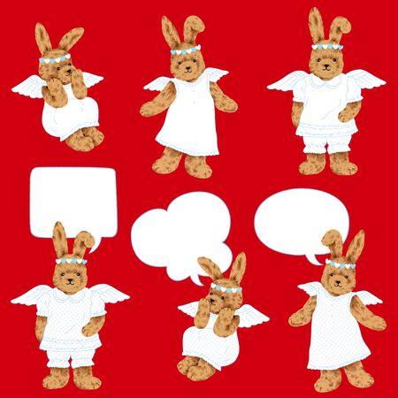 cheeky: Pretty rabbit pattern Stock Photo