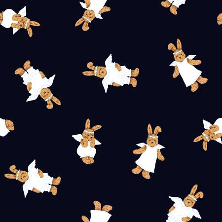 Pretty rabbit pattern Stock Photo