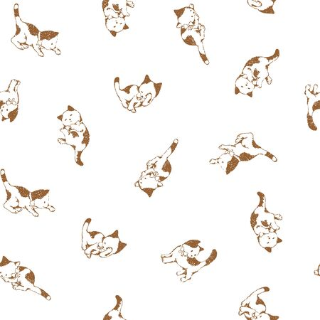 cute kittens: Pretty cat pattern