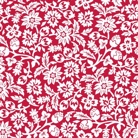 Red chintz seamless pattern.