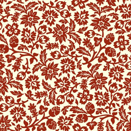 Brown chintz seamless pattern. 向量圖像