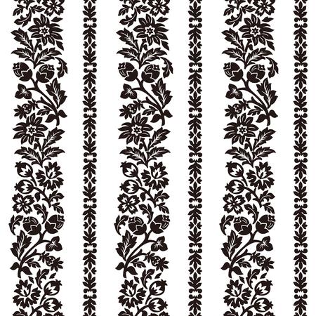 Horizontal chintz seamless pattern.