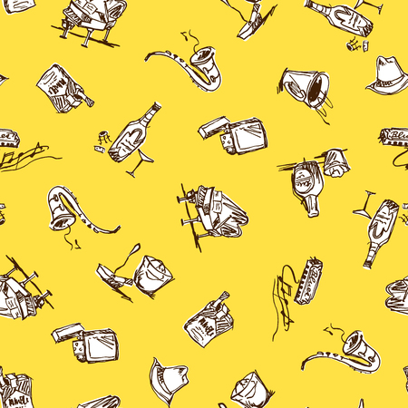 hangover: Image pattern of the bar. Illustration