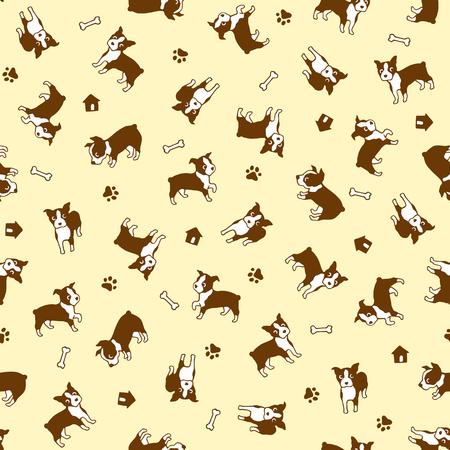 interesting: Dog illustration pattern. Illustration