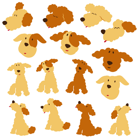 interesting: Dog illustration material
