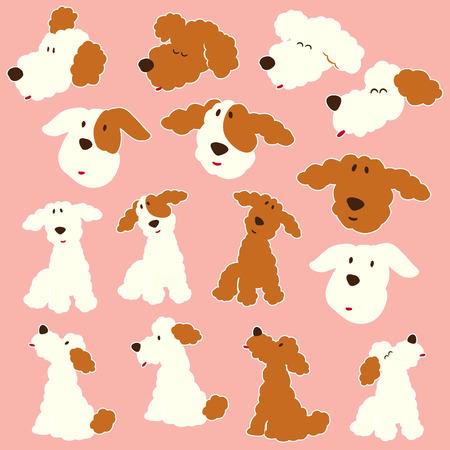Honden illustratie materiaal