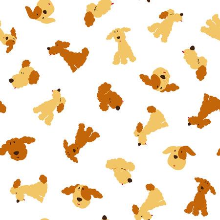 Dog illustration pattern