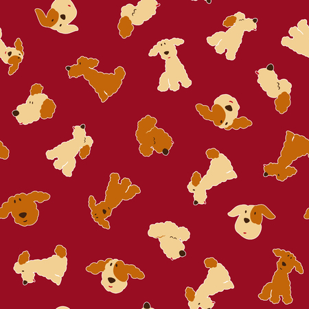 Dog illustration pattern Illustration