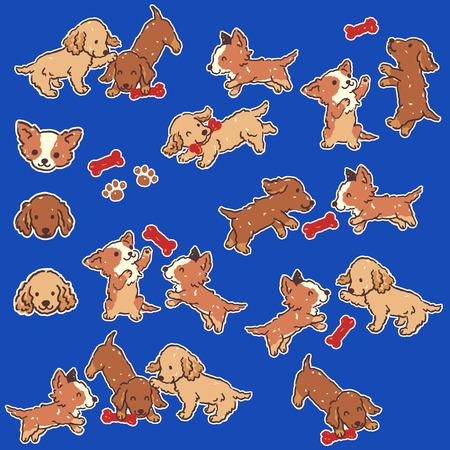 Dog illustration material