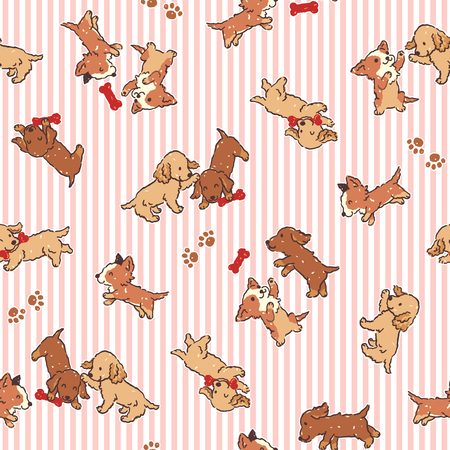interesting: Dog illustration pattern Illustration