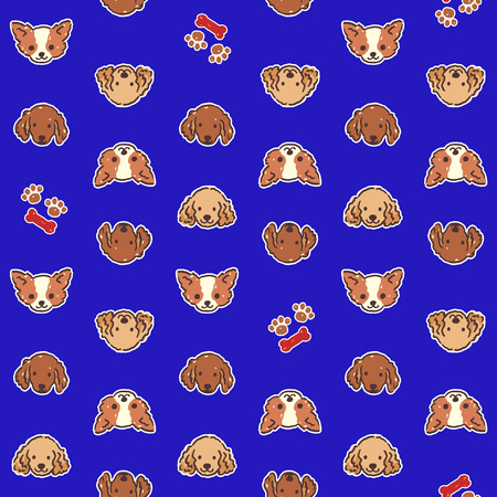Dog illustration pattern Illustration