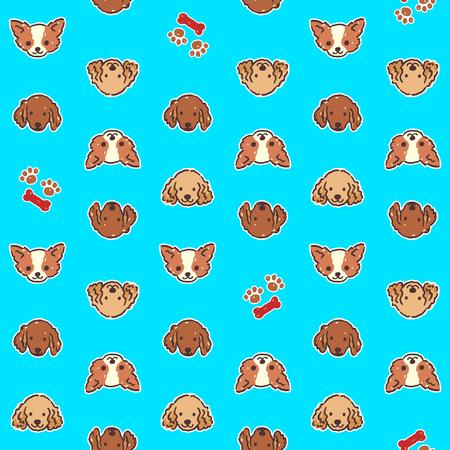 Dog illustration pattern Stock Illustratie