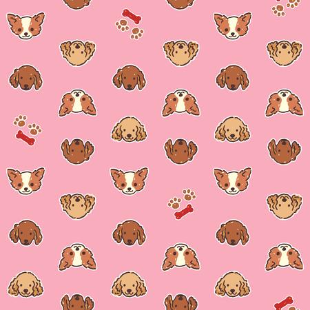 Dog illustration pattern 向量圖像
