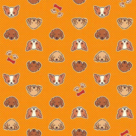 interesting: Dog illustration pattern Illustration