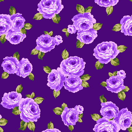 Rose illustration pattern