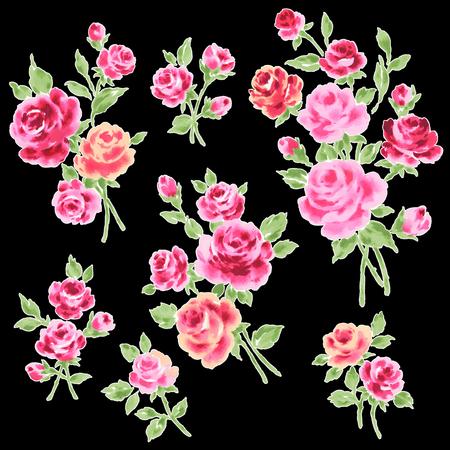 Rose illustration object Stock Photo