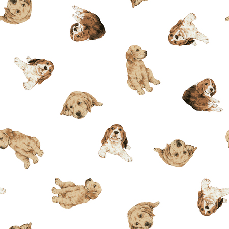 labrador: Pretty dog pattern Stock Photo