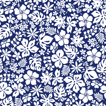 pattern: Hibiscus flower pattern