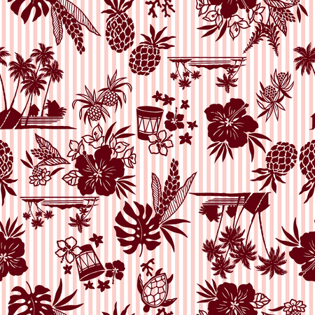 pattern: Hibiscus and pineapple pattern