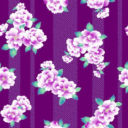 techniek: Een Japanse stijl pioenpatroon.