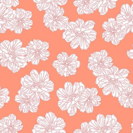 Flower illustration pattern.