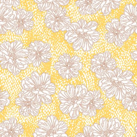 repeats: Flower illustration pattern