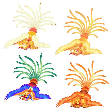 Illustration of the Chinese phoenix
