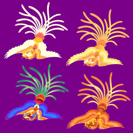 revive: Illustration of the Chinese phoenix