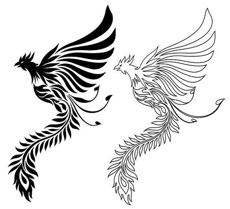 Illustration of the phoenix illustration.