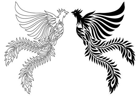 revive: Illustration of the phoenix illustration.
