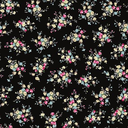 simplification: Abstract flower pattern illustration.