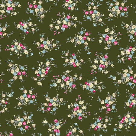 Abstracte bloemenpatroon illustratie.