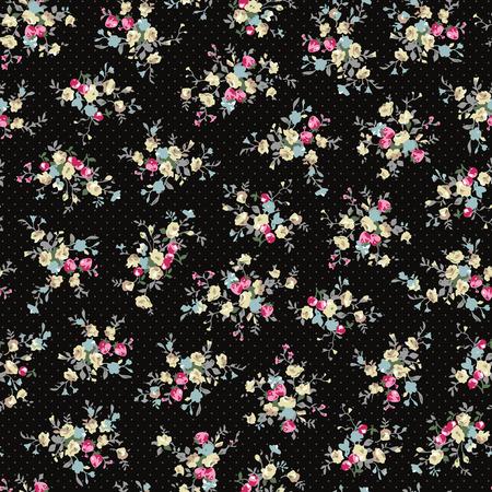 Abstract flower pattern illustration.