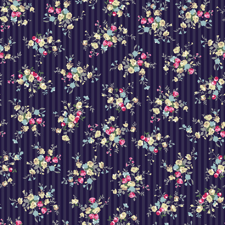 Abstract flower pattern illustration.