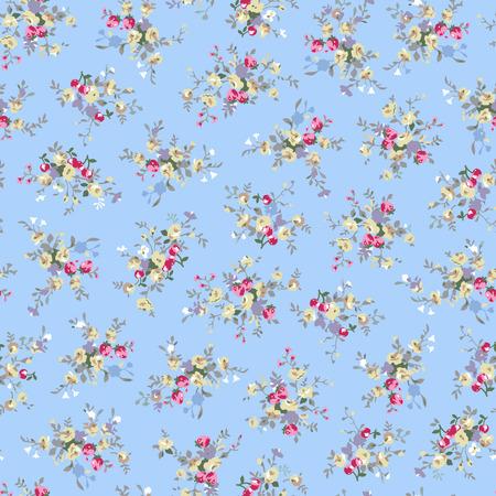 추상 꽃 패턴 그림입니다.