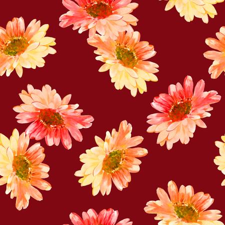 花のイラストのパターン