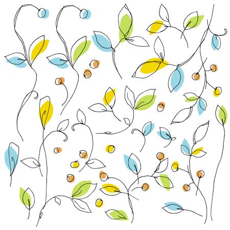 Abstract plants illustration Illustration