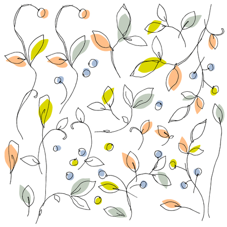 抽象的な植物イラスト  イラスト・ベクター素材