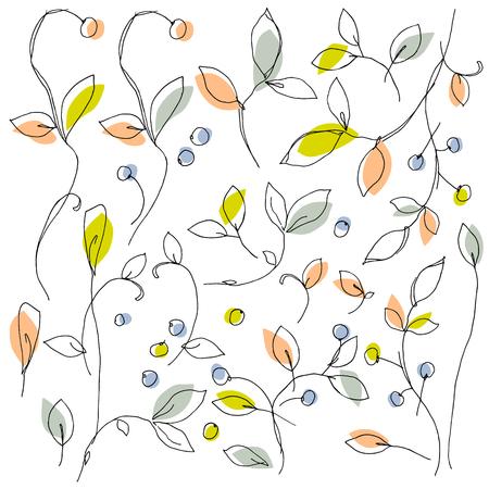 Abstract plants illustration Ilustração