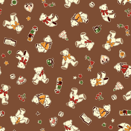 Bear illustration pattern Ilustrace